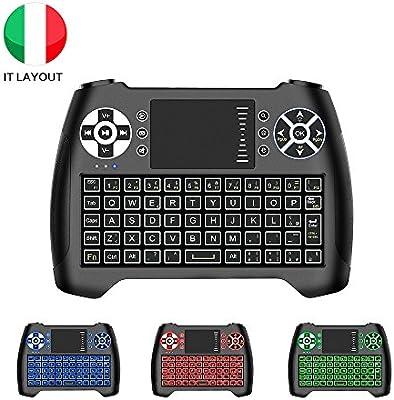 Horsky Mini teclado inalámbrico PC italiana, teclado mecánica ...