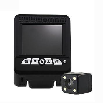 MIAO Hidden 1080P HD Tacógrafo de velocidad de medición frontal y trasera de dos lentes,
