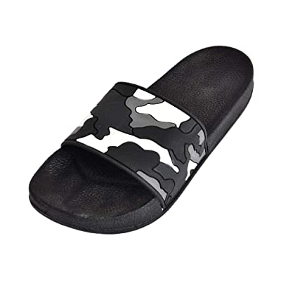 UniverSole Men's Slide Sandal | Indoor & Outdoor Slip-On | Casual & Beach Open Toe Flats | Summer Slipper | Sandals