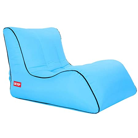 LJM - Sofá hinchable Lazy Air Bed Beach Chair para interior ...