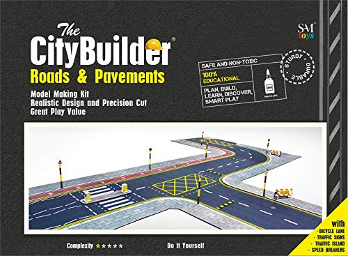 The CityBuilder O Gauge 1:48 Scale Roads & PAVEMENTS Cardboard Model Making Kit Model Railroad Accessories from The CityBuilder