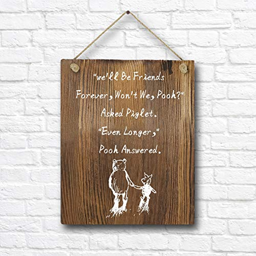 (Winnie The Pooh Quotes and Saying Rustic Wood Wall Art Decor- 8