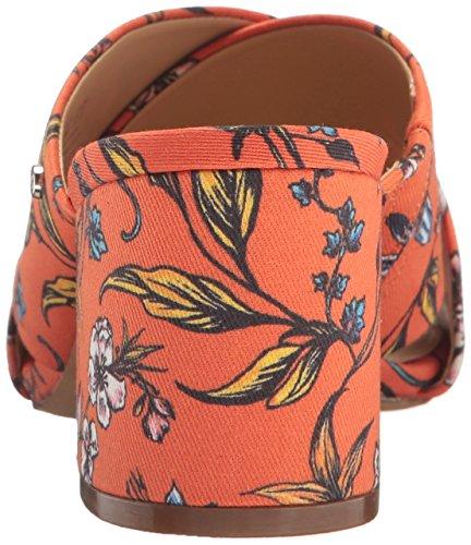Sam Edelman Women's Stanley Slide Sandal Orange Botanical Print MEbLGn5eG