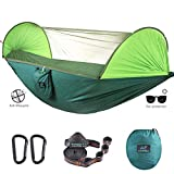 CAMDEA Camping Hammock with Mosquito Net, Ultra Lightweight Portable Hammock, Single & Double Hammock with Bug Net, Windproof Hammock Tent Swing for Sleeping, Travel, Outdoor