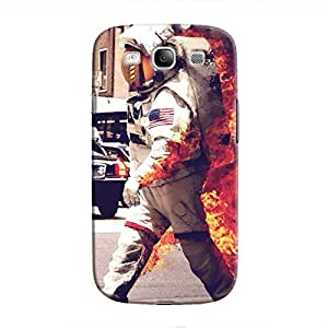 Cover It Up - Burning Astronaut Galaxy S3 Hard case