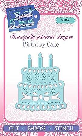 Sweet Dixie Birthday Cake Die Grey Metal