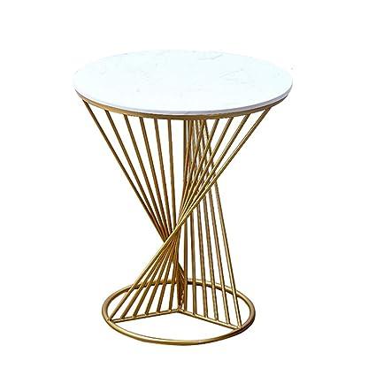 Gold Metal Round Coffee Table.Amazon Com Zhirong Round White Marble Side Table Gold Metal Frame