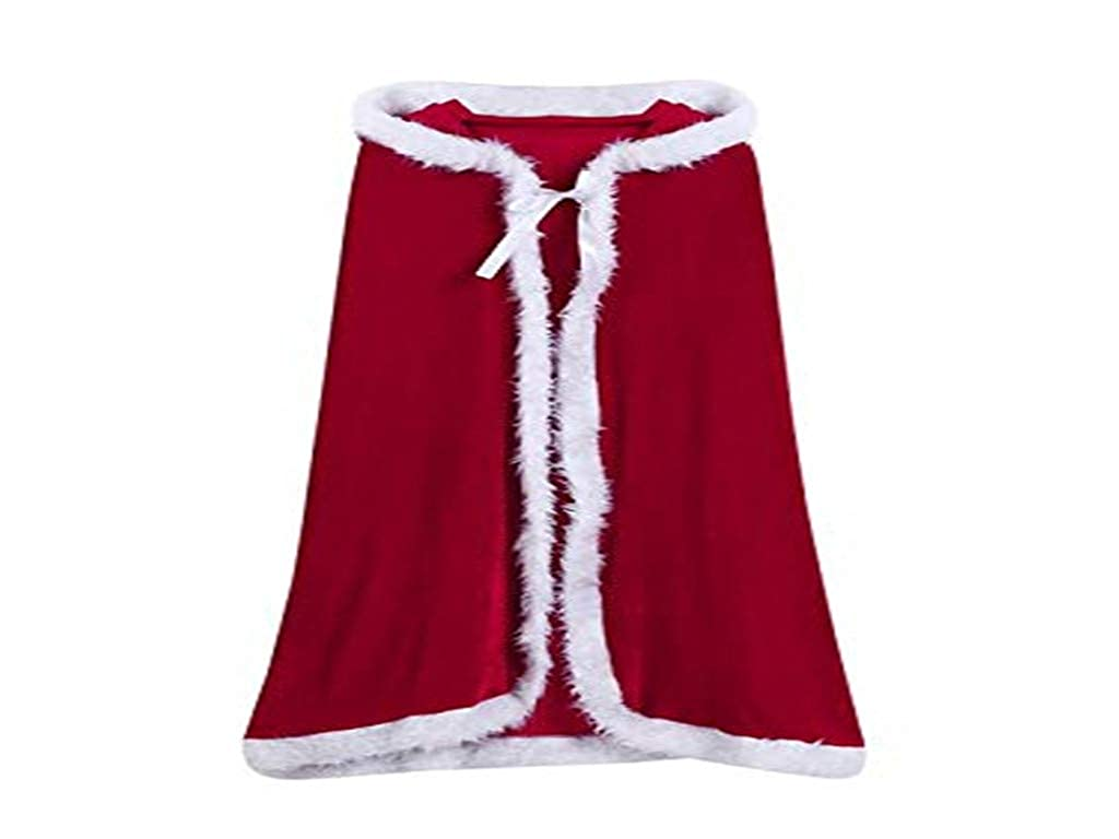 AliveGOT Kids Children Christmas Party Santa Claus Cloak Hooded Cape Christmas Costume