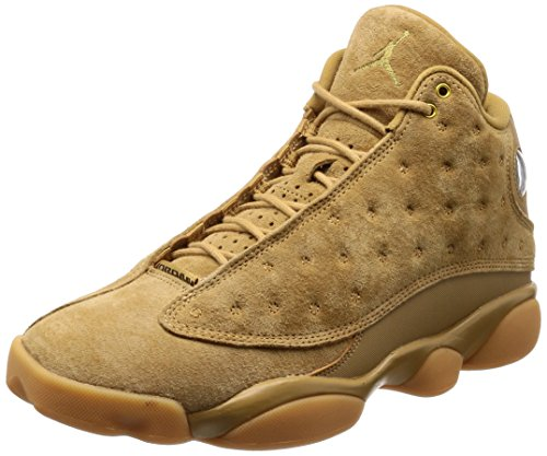 Jordan Air 13 Retro Wheat Casual Shoes Mens Elemental Gold/Baroque Brown New 414571-705 - - Jordans New Mens