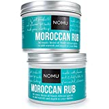 NOMU Moroccan Seasoning Rub (2-Pack) – Blend of 13 Spices – Paleo, Vegan, Non-Irradiated, No MSG or Preservatives