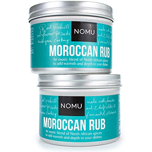 NOMU Moroccan Seasoning Rub (2-Pack) - Blend of 13 Spices - Paleo, Vegan, Non-Irradiated, No MSG or Preservatives