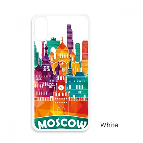 Moscow Cathedral Painting Russia for iPhone XS Cases White Phonecase Apple Cover Case ()