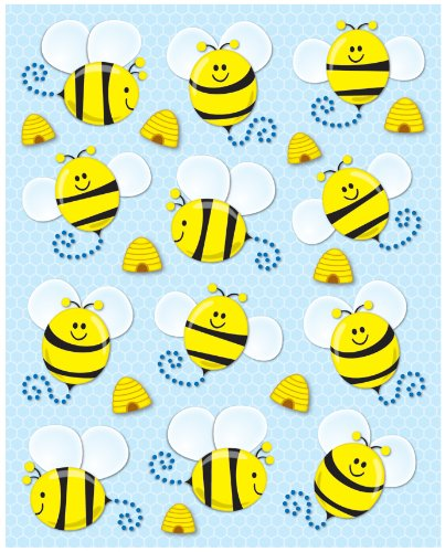 Bee Bumble Stickers - Carson Dellosa Bees Shape Stickers (168019)