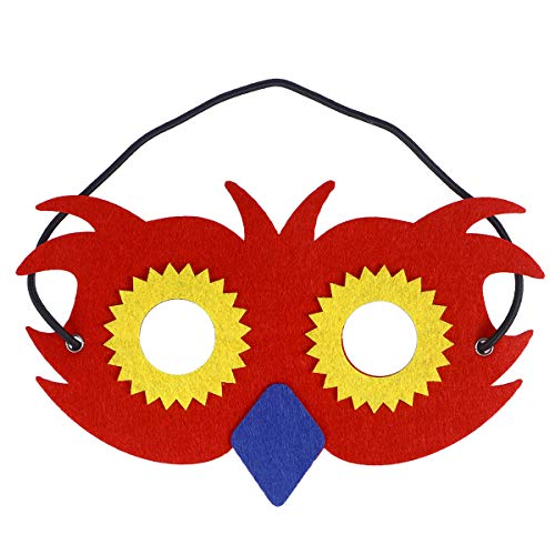 BESTOYARD Owl Mask Animal Half-face Mask Performance Mask Cosplay Supply for Children Kids Kindergarten (Red) -