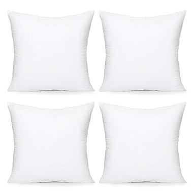 Acanva Throw pillow insert, 20 -4P, White