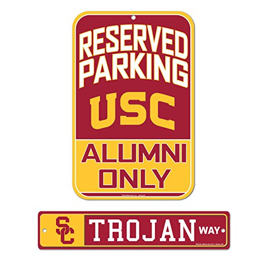 (WinCraft Bundle - 2 Items: USC Plastic Street Sign and Reserved Parking Sign)