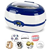 Jewelry Cleaner Ultrasonic cleaning Machine for Jewelry,Eyeglasses,Watches,Rings,Necklaces,Bracelets,anklets,Razors,Dentures,mouth guard,Toothbrush,mechanism Parts by Mikayoo(600ml)