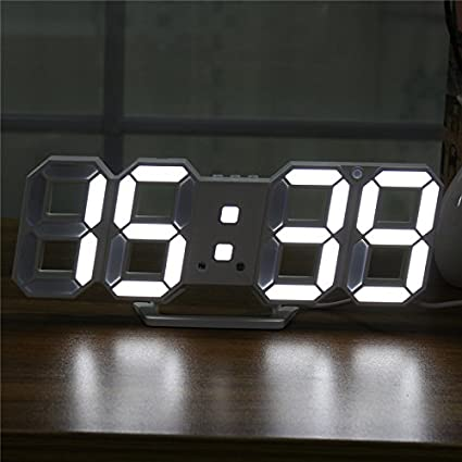 MYAMIA Digital Moderna Grande Led Pared Esqueleto Reloj Temporizador 24/12 Horas Display 3D Gife