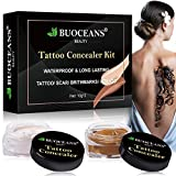 Tattoo Concealer, Body Concealer Cream, Professional Tattoos Cover Up Makeup Concealer Set, Waterproof Concealer To Cover Tattoo/Scar/Birthmarks/Vitiligo, Cover Up Dark Spots Concealer