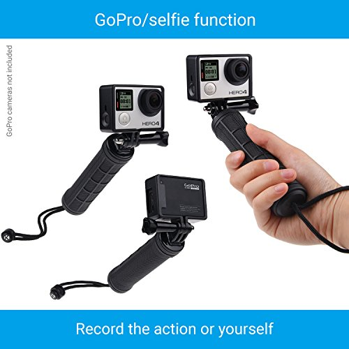 CamKix Replacement Stabilizing Hand Grip Compatible with GoPro Hero with Dual Mount, Tripod Adapter and Universal Phone Holder - Record Videos with 2 Different Camera Angles Simultaneously by CamKix (Image #3)