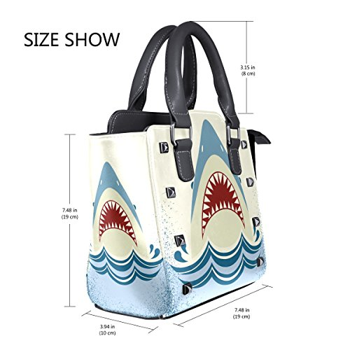 Shoulder Handbags PU Shark Women's Top Bags Jaws Leather TIZORAX Handle 4xIw8I