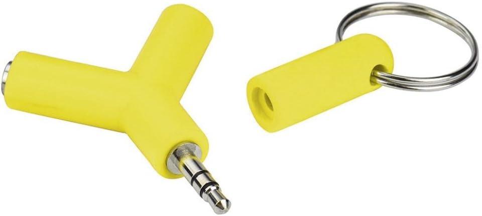 Audio Splitter Adapter,Exteren Audio Splitter Y Jack Male to 2 Female M//F 3.5mm Stereo Earphone Headphone Black