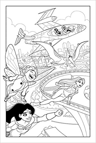 Amazon DC Super Hero Girls A Kids Coloring Book 9781401274580 Various Books