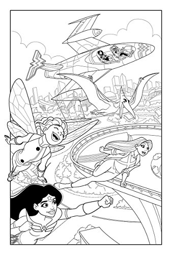 DC Super Hero Girls: A Kids Coloring Book
