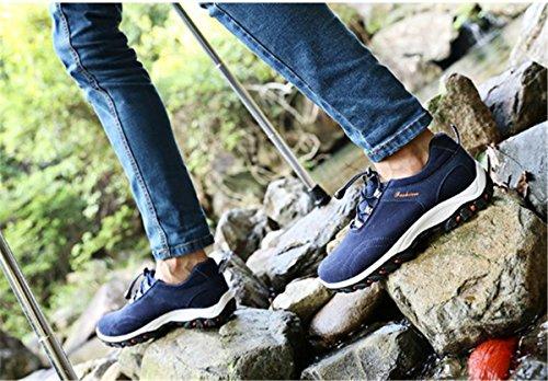 Bininbox Mens Casual Sneakers Traspiranti Scarpe Da Ginnastica Sportive Impermeabili Da Running Con Cotone Blu Scuro