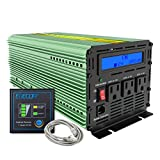 EDECOA Power Inverter 2000 Watts 12V DC to 110V 2000W AC with LCD Display and Remote Controller