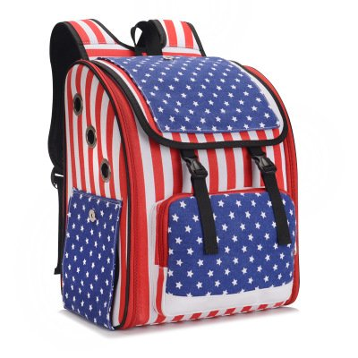 Dog Backpacks Pet Backpack Cat Bag Dog Bag Out Pack Travel Portable Backpack Schoolbag Breathable Mesh Cloth Outcropping Chest Star Pattern 22  33  39Cm