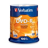 Verbatim 4.7GB up to 16x Branded Recordable Disc DVD-R 100-Disc Frustration Free 97460