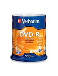 Verbatim 4.7GB up to 16x Branded Recordable Disc DVD-R 100-Di...