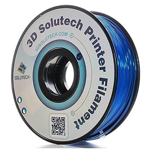 (3D Solutech See Through Blue 1.75mm Flexible 3D Printer Filament 2.2 LBS (1.0KG))