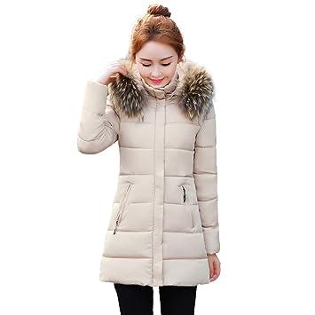 Mujer y Niña chaquetas otoño Invierno fashion,Sonnena ❤ Abrigo de piel sintética cálido invierno mujer Abrigo grueso grueso con capucha Abrigo largo de ...