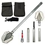 Search : KEJIH 30-38 Inch Length Foldable and Heavy Duty Military Shovel and Pickax with Tactical Waist Pack for Camping Hiking