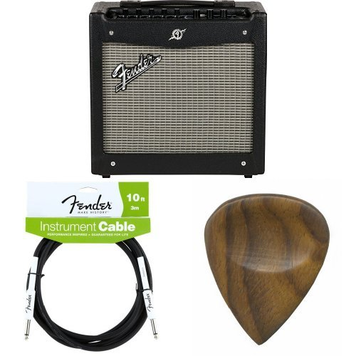 Fender Mustang I (V.2) 20-Watt Electric Guitar Amplifier with Cable and Picks