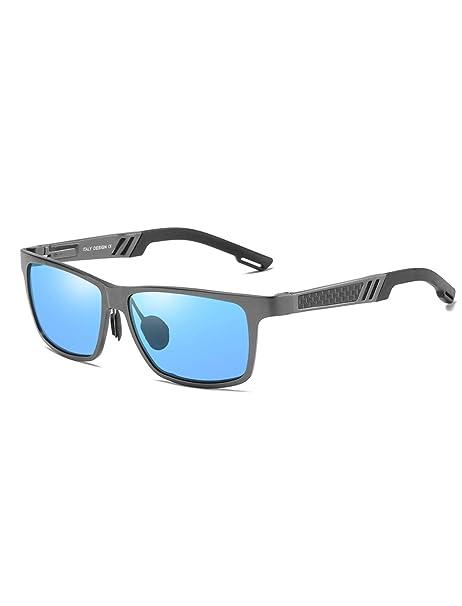AMEXI Gafas de Sol Hombre Polarizadas, Gafas de Sol Azules ...