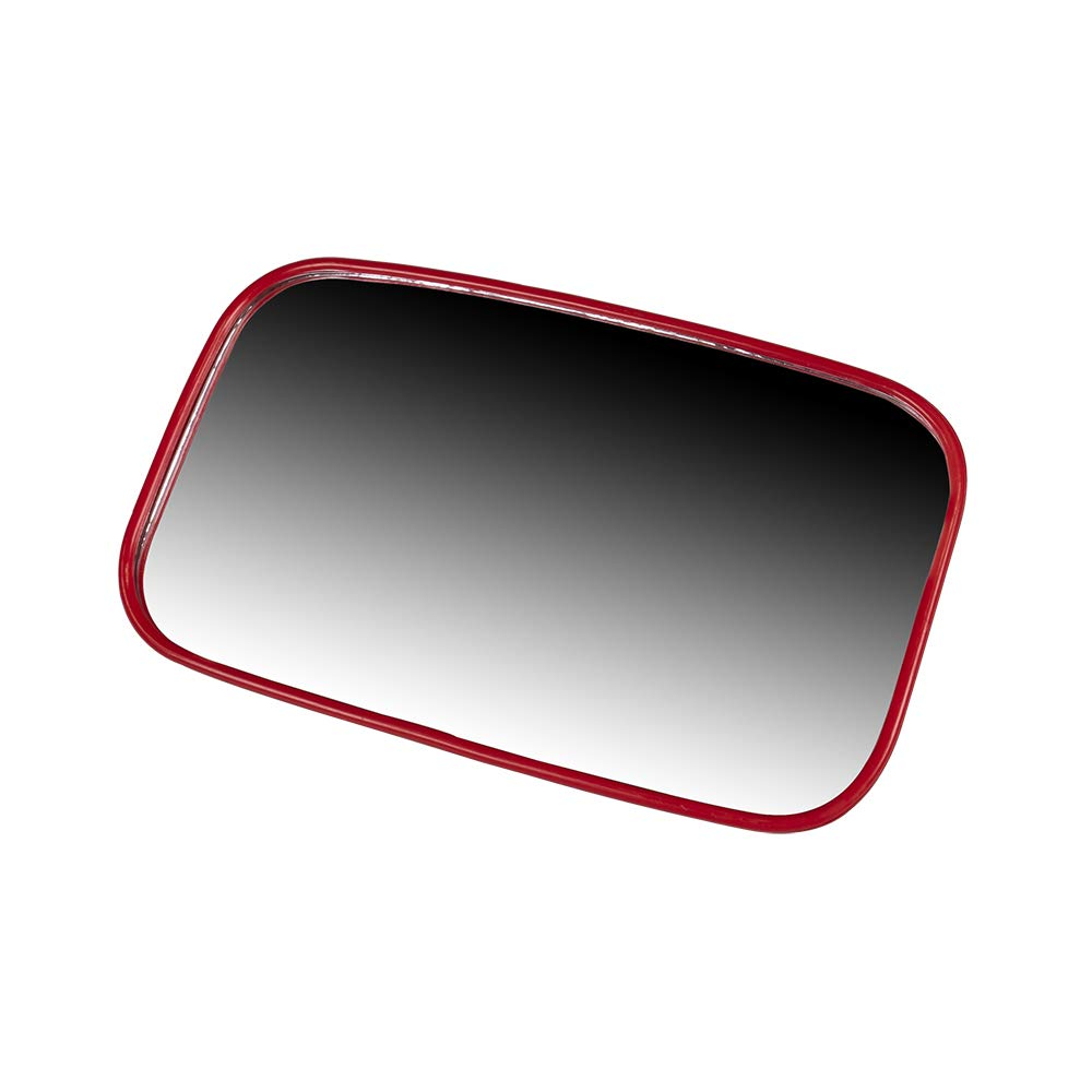 8TEN Red Offroad Rear View Center Mirror Kit for Side x Side UTV Utility Vehicle w/ 1.75' Roll Bar Cage High Impact Large Wide View Race