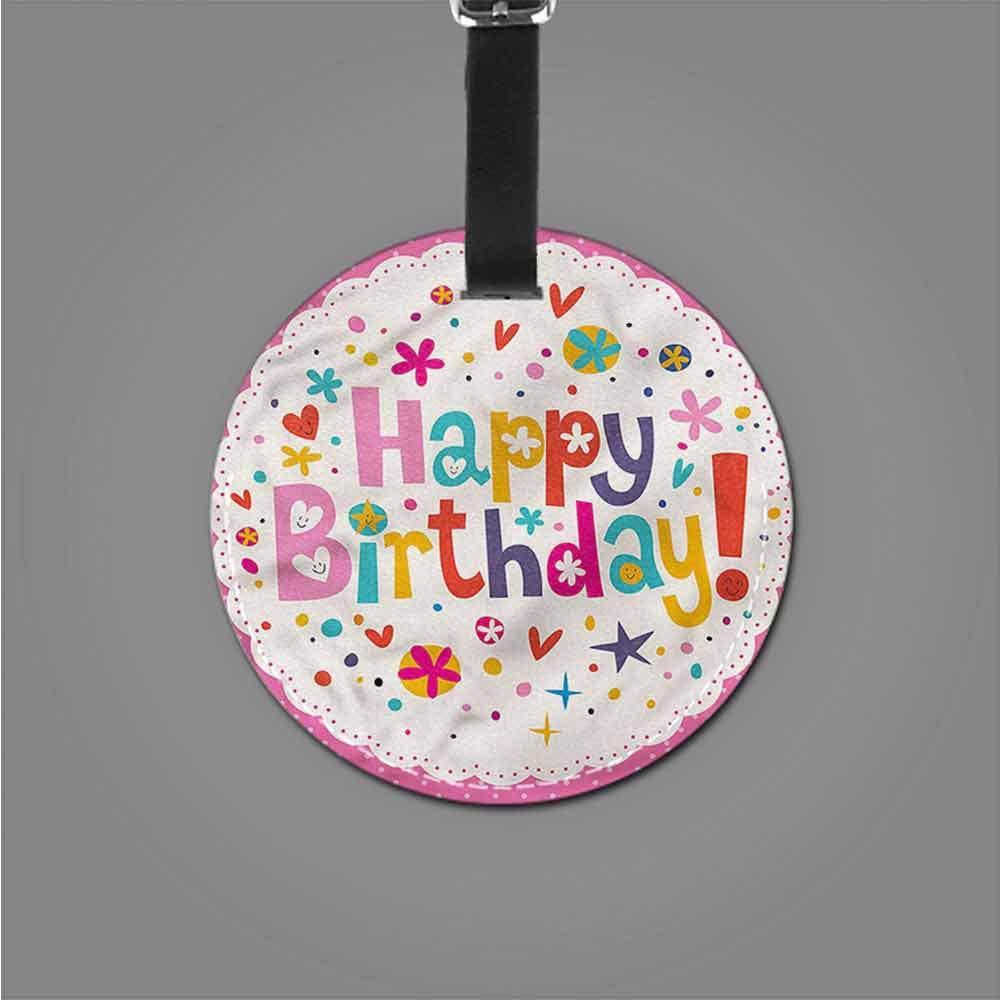 Round Luggage Tags Birthday,Birthday Cake Spirals Good-looking