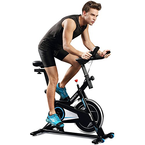 Indoor Belt Adjustable Cycling Bike with LCD Screen (US Stock) (Black)