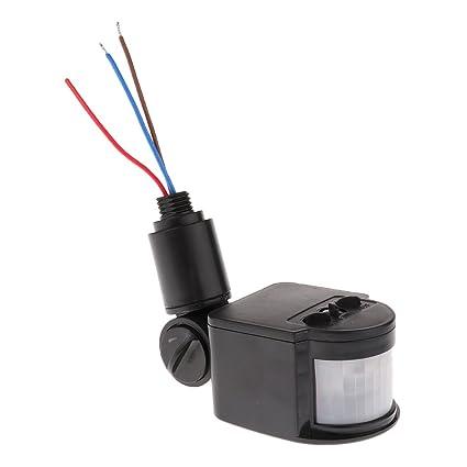 12m PIR Detector Sensor de Movimiento Por Infrarrojos Luz LED Al Aire Libre RF AC85V~