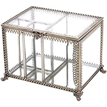 Amazon.com: Mirrored Makeup Brush Holder, Clear Glass