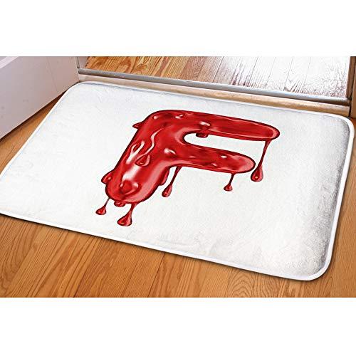 iBathRugs Door Mat Indoor Area Rugs Living Room Carpets Home Decor Rug Bedroom Floor Mats,Blood Font Halloween Horror Letter]()