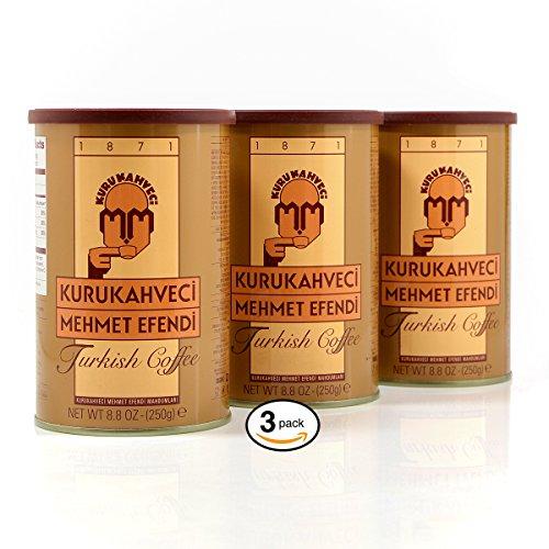 Baptize: Mehmet Efendi Turkish Coffee   Smooth, Satisfying Taste Of Turkish Ground Coffee   8.8OZ, (Pack of 3)