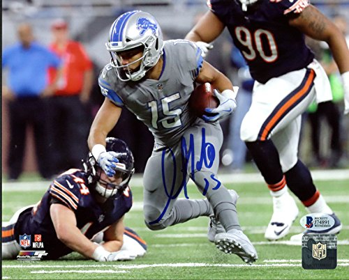 Lions Golden Tate Authentic Signed 8x10 Photo Vs Bears BAS Witnessed 2