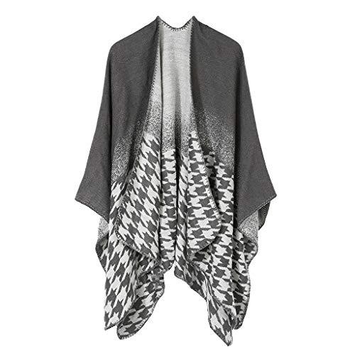 HDGTSA Women's Shawl Wrap Fashionable Open Front Poncho Cape Soft Cashmere Scarves