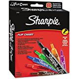 Sharpie : Flip Chart Markers, Bullet Tip, Eight Colors, 8/Set -:- Sold as 2 Packs of - 8 - / - Total of 16 Each
