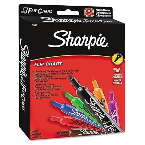 Amazon com sharpie flip chart markers bullet tip eight
