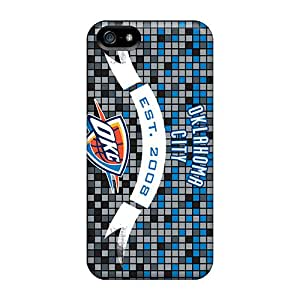 Anti-Scratch Cell-phone Hard Covers For Iphone 5/5s (lrF9624sHIT) Unique Design High-definition Oklahoma City Thunder Pattern